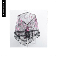 New design sexy fashion soft shawl chinese silk scarf