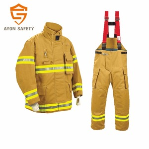 EN 469 Fireman rescue gear/ Firefighting suit/ heated clothing with 4 layer structure with different colors -Ayonsafety