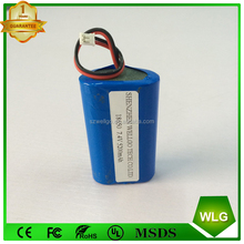 Customize Accepted Rechargeable 18650 battery 7.4V 5200mah Li-ion battery pack
