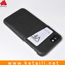 ID credit card slot rubberized matte hard phone case with wallet