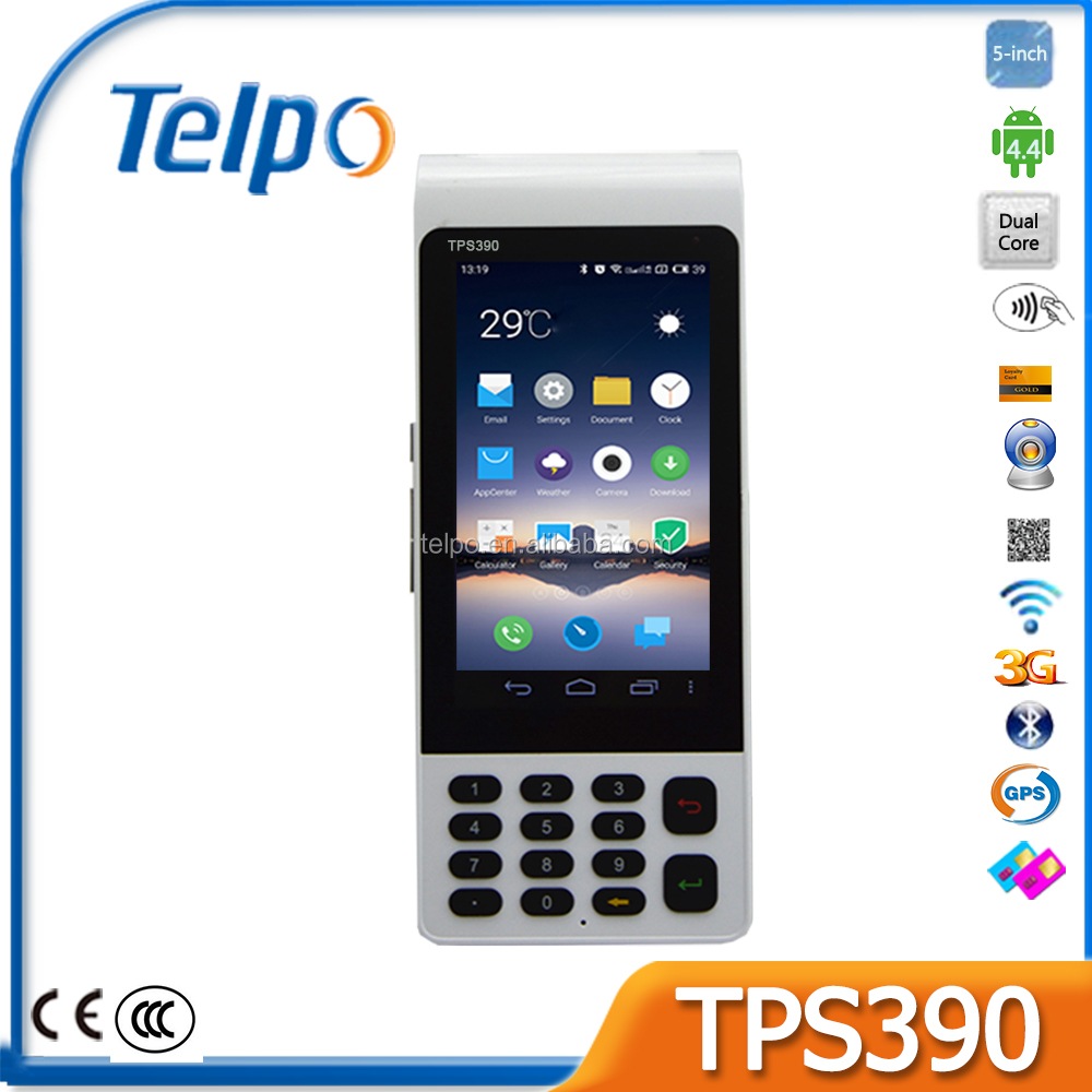 Telepower TPS390 e-Payment POS Terminal GPRS Handheld POS Terminal POS with Integrated Printer