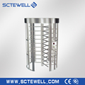 Revolving door security full height turnstiles with access control