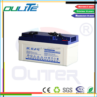 Oliter 65ah 12v lead acid deep cycle battery for solar system