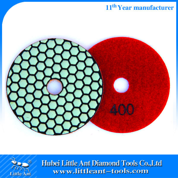 400 grit 4inch One set Hand Dry Granite Polishing Pads/Buffing Discs for Porcelain Tile