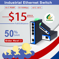 Power over Ethernet 5 port 10/100Mbps industrial Switch