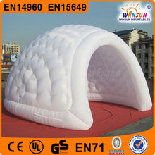 hot sale outdoor white inflatable igloo tent, inflatable igloo for kids