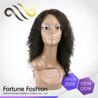 Custom Fit Factory Price Raw Yaki Afro Cheap Kinky Curly Full Lace Wig