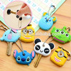 Cartoon anime elephant 3d soft pvc key cover for key head cover caps
