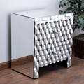 Model luxury curve mirrored chest /nightstand with two drawers