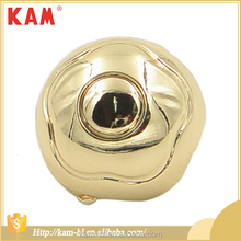 Custom fancy different types of round metal blazer buttons