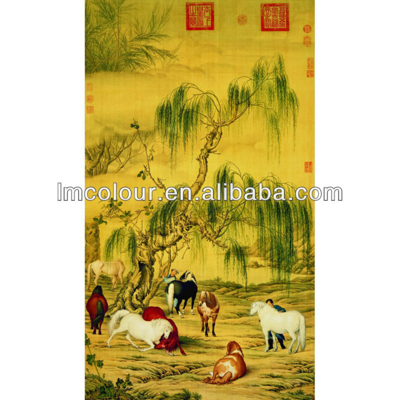 Wodden Photo Frame Simulate Painting Of Eight Horses