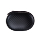 Shockproof Braided Pattern PU Coated Carrying EVA Earphone Case