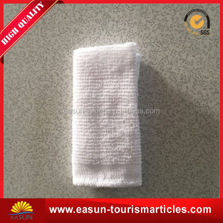 customize logo disposable white cotton bath towels for aviation