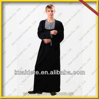 The Hot Sale 2014 Fashionable men thobe islamic thobe muslim KDT535 men islamic clothing kaftans for men with lowest price