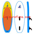 colorful inflatable windsup board