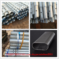 ERW BS1387 BS21 Glavanized Round Steel Pipe fence post fuild and furniture