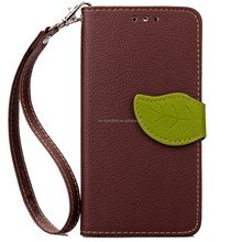 2016 new product leaf design PU Leather Case Cover for Samsung Galaxy S3 MINI 8190