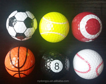sports ball golf football printed ball / jg creative golf gift ball/various colors golfballs