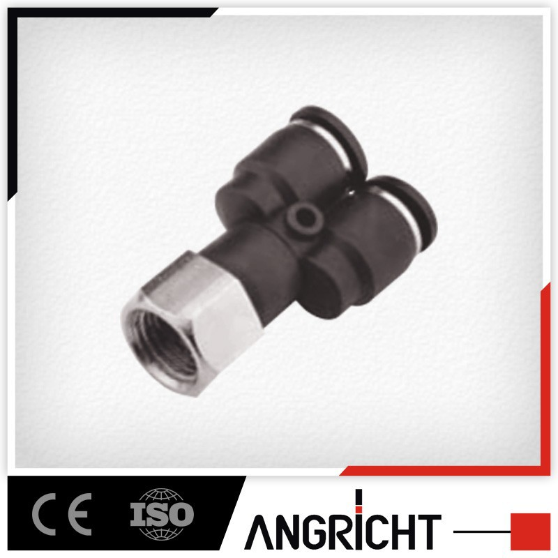 A143 PXF pvc plastic compression fitting female hose fittings y pipe connector