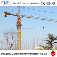 Strong quality top brand QTZ 125 series tower crane with best price and free spare parts