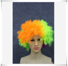 New products 2018 human hair wig bright multicolored exploding hair full lace wig for party supply china suppliers