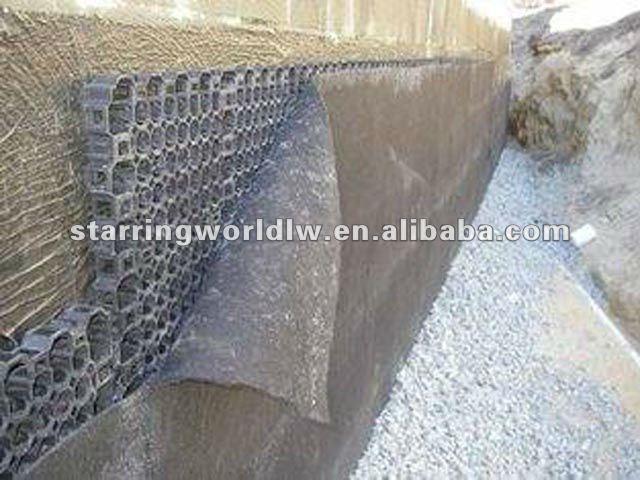 Polypropylene Drainage Cell : Propileno de drenaje plástico celular para muro