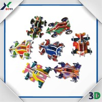 motorcycle children mini toy promotion PP shoot 3d jigsaw puzzle
