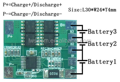 pcb exporter of li-ion with 3s 11.1V li-ion battery pack ,usb video player circuit