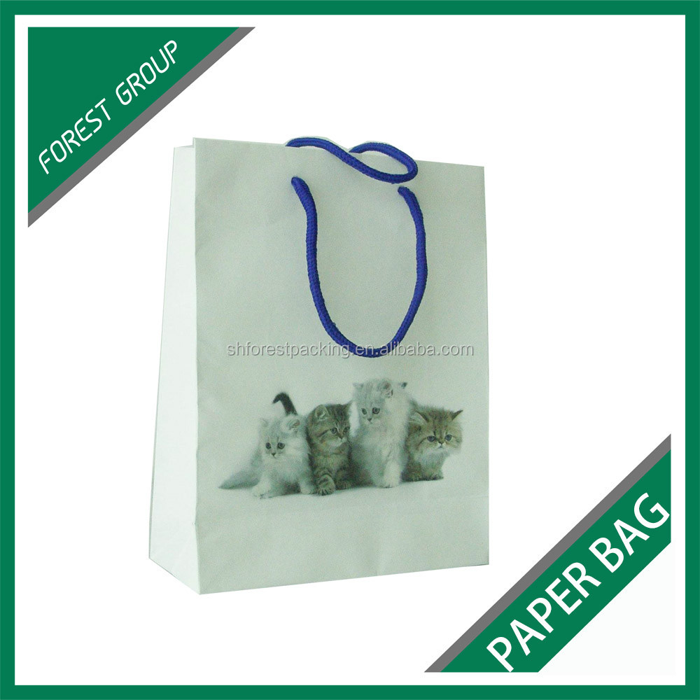 STANDARD SIZE RECYCLED PAPER BAGS FOR PACKING PETS FOOD WHOLESALE