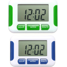 2015 Hot Sale LCD Display Alarm Clock 5 Groups Noisy Bell 12/24 Hours Countdown Multi Kitchen Timer Desktop Digital Table Clock