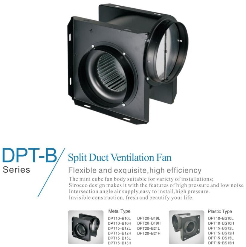 220v 240v 50hz 60hz CE SASO Split Duct Ventilation Fan