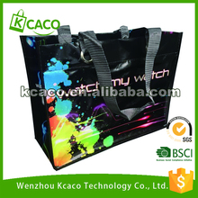 Large size waterproof laminated non woven tote shopping bag