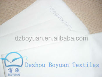 "polyester cotton poplin fabric t/c 65/35 45*45 133*72 57/58"" white"
