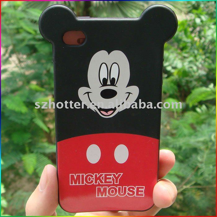 For Iphone 4 Micky Mouse Silicone Case