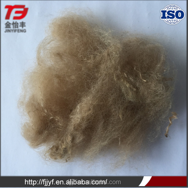 Promotional recycled solid polyester material dark brown siliconized fiber with low price