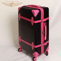 Popular style vintage trolley luggage