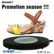 new invention ! magnetic levitating led display stand for shoe woman,italian brand name shoes