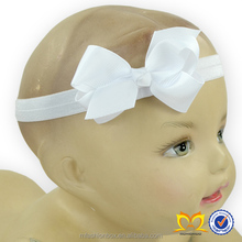 Infants Stretchy Elastic Headbands Newborn White Flower Making Bow Headbands Cute Baby Hair Tie Accessories Wholesale