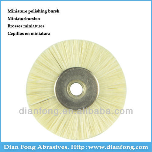 22mm White Goat Hair Wheel Dental Laboratory Polishing Brush