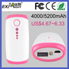 Portable Mobile Power Bank 4000mAh universal USB External Backup Battery