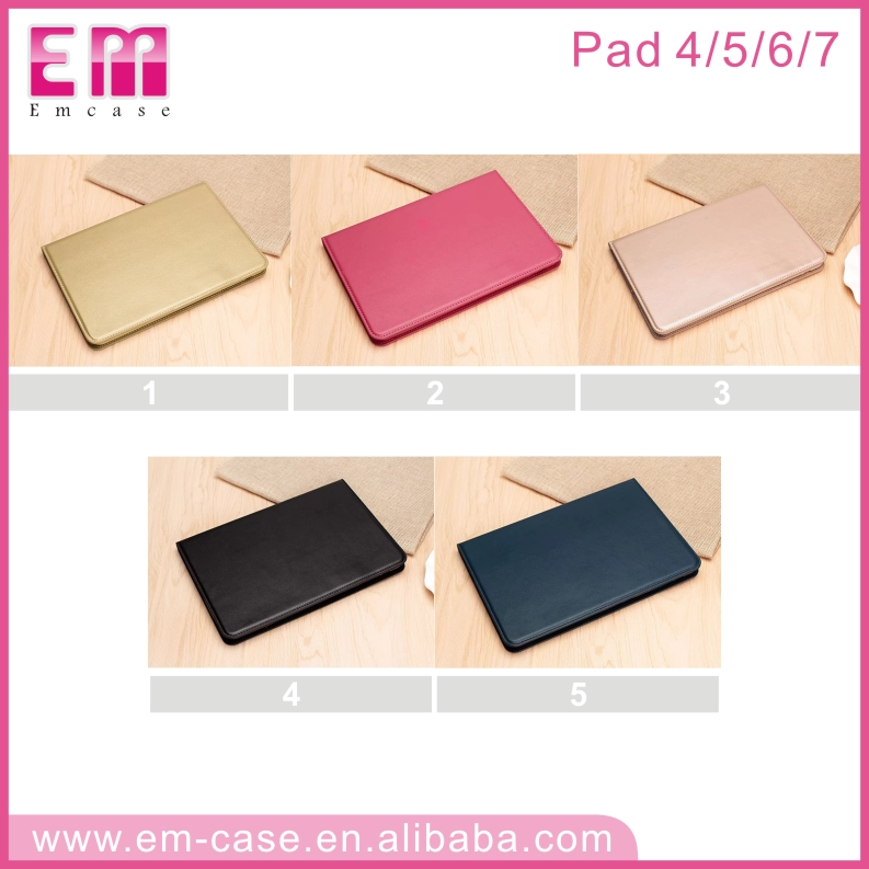 Hot Selling High Quality Black Fashion Leather wallet phone case For ipad 4 5 6 7