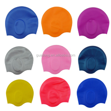 Premium Waterproof Earmuffs Silicone Swim Cap with Ear Pouches for Men and Women