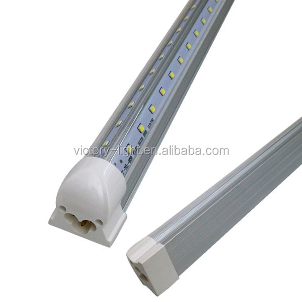 quality 8 ft v shape led tube light fixture 44w t8 led tube lights led. Black Bedroom Furniture Sets. Home Design Ideas