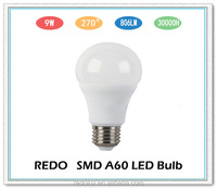 Energy saving Dimmable A60 9W E27 led light bulbs a19