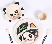 Biodegradable Bamboo Fiber Dinnerware Sets For Baby And Kids