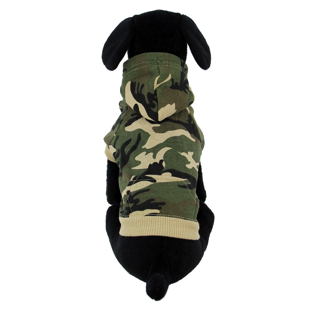camo hoodie green chinese new year dog clothes