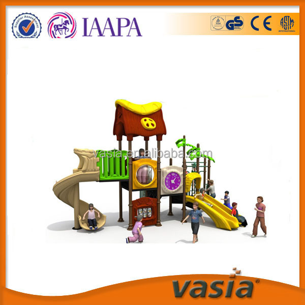 Hot sale school nature theme outdoor playground ,attractive toys slide,S plastic slide