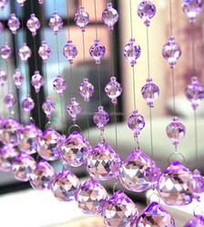 Knit curtain crystal bead window curtains