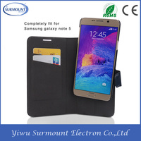Alibaba Express Strong Magnet Wallet Flip Leather Case for Samsung Galaxy Note 5