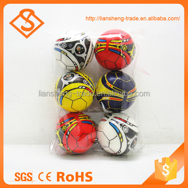 Cheap price multi color 4 inch pu toy sport ball toy